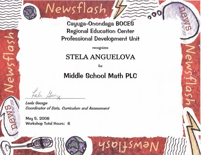 PLC COnference Certificate