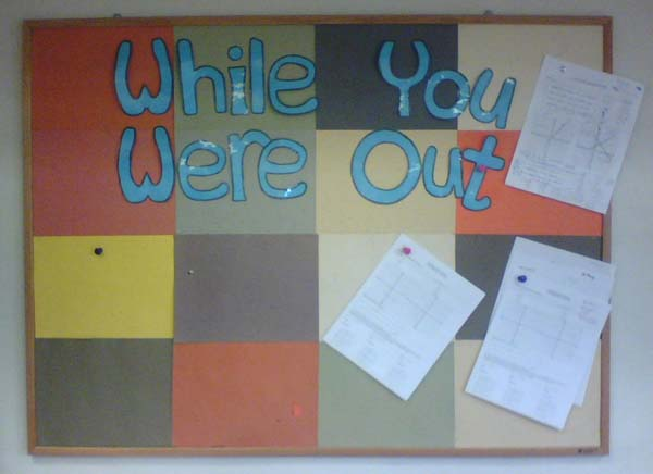 WhileYouWereOut Classroom board